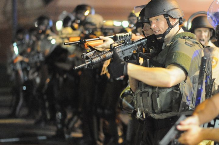 "2014: The National Guard was called into Ferguson to ""control"" protests."