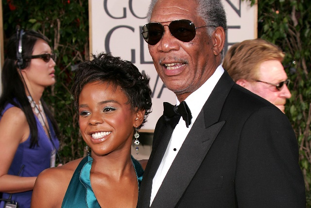 Morgan Freeman and E'Dina Hines
