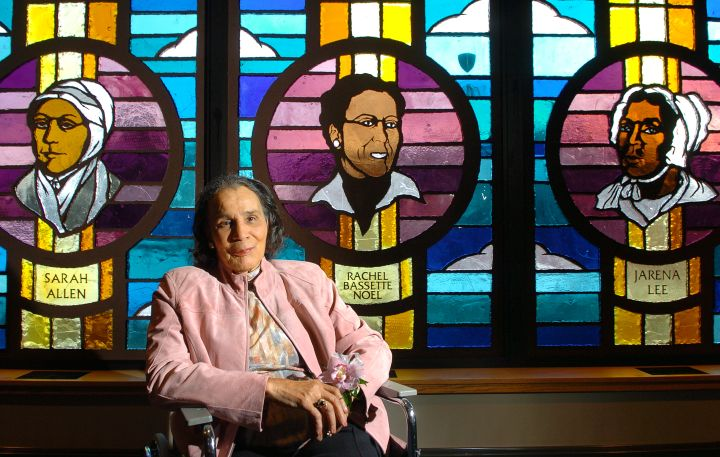 Shorter AME Community Church Displays Stain Glass Windows of Women Activists in Denver