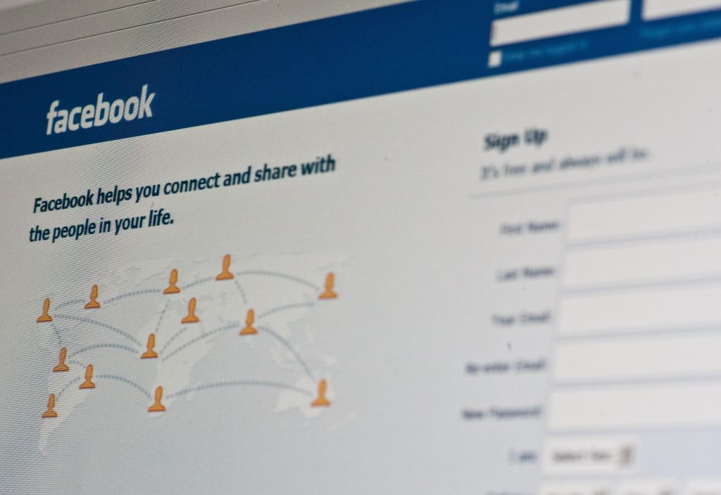 View of the Facebook homepage taken in W