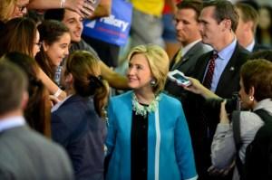Hillary Clinton Speaks At Broward College