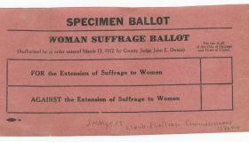 Women's suffrage ballot