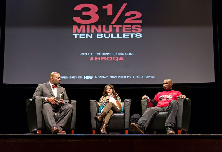 Dr. Jelani Cobb moderated a discussion with Davis' Parents, Lucy McBath and Ron Davis.