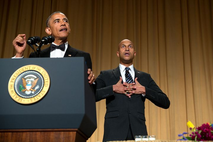 APRIL: During the Correspondents' Dinner, his anger translator – played by Key & Peele comedian Keegan-Michael Key – helped Obama get out his biggest frustrations.