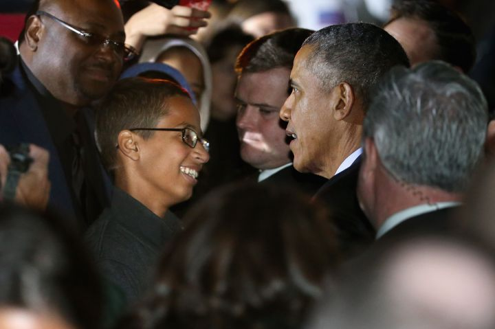 OCTOBER: President Obama meets with Ahmed Mohamed, the student who was detained by Texas police for his homemade clock. The president stood by the teen, who many believe was the victim of Islamophobia.