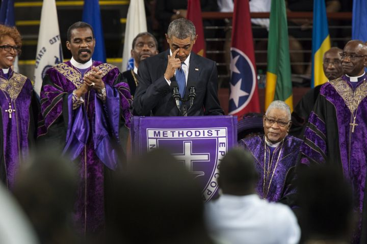 Obama Speaks at Reverend Clementa Pinckney Memorial Service