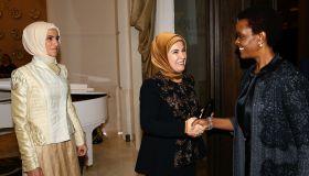 Dinner hosted by Emine Erdogan within G20 Turkey Summit in Antalya