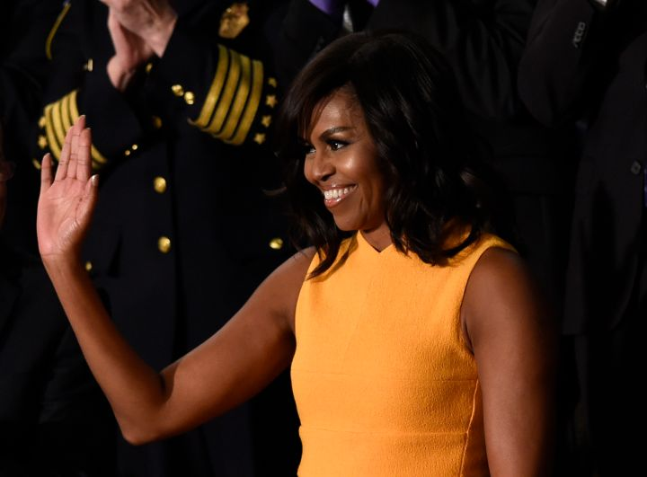 The first lady looked ravishing at her husband's State of the Union address.