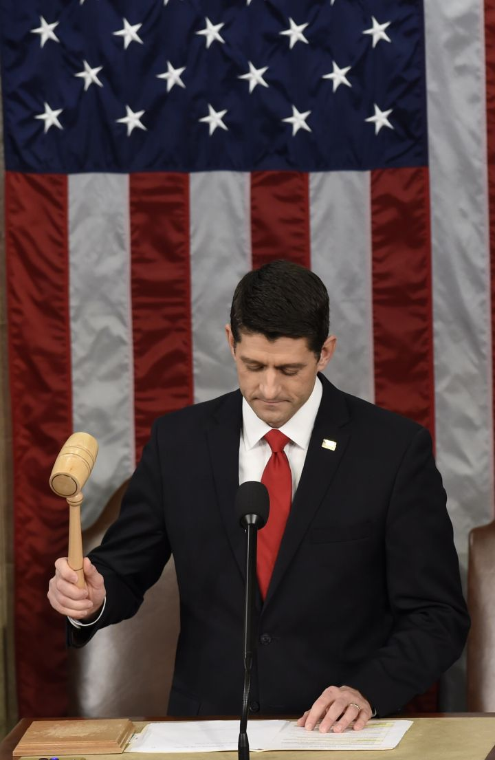 Obama shared his final State of the Union address with Paul Ryan, the new speaker of the house.