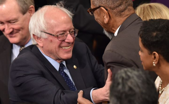 Bernie Sanders was just one of the presidential candidates at the SOTU address. The Vermont Senator was also present at the Joint Session of Congress prior to the event.