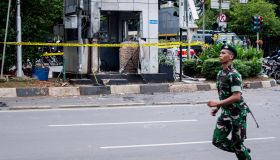 Multiple Explosions In Central Jakarta