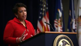 Loretta Lynch Speaks At Justice Dep't Event Commemorating Martin Luther King