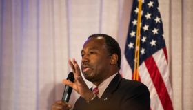 Ben Carson Holds Caucus Night Party In Iowa