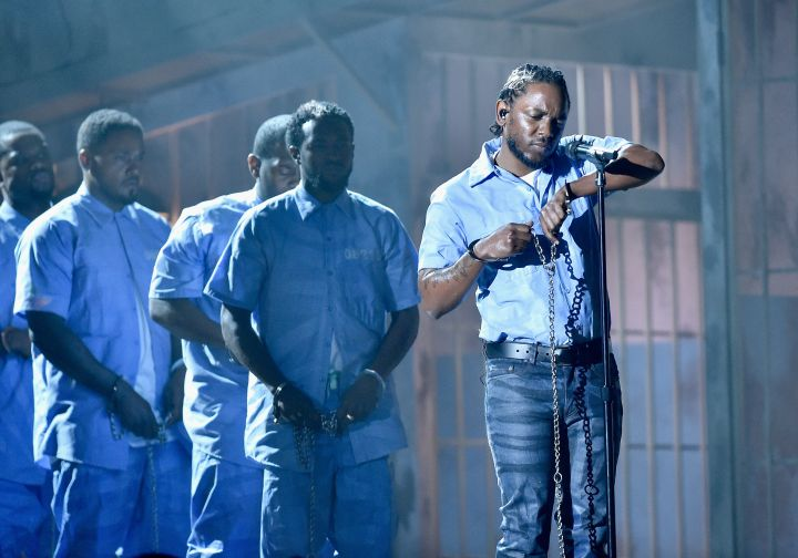 """Top Black Pop Culture Moments Of 2016: Kendrick Lamar's """"Alright"""" performance at the Grammys"""