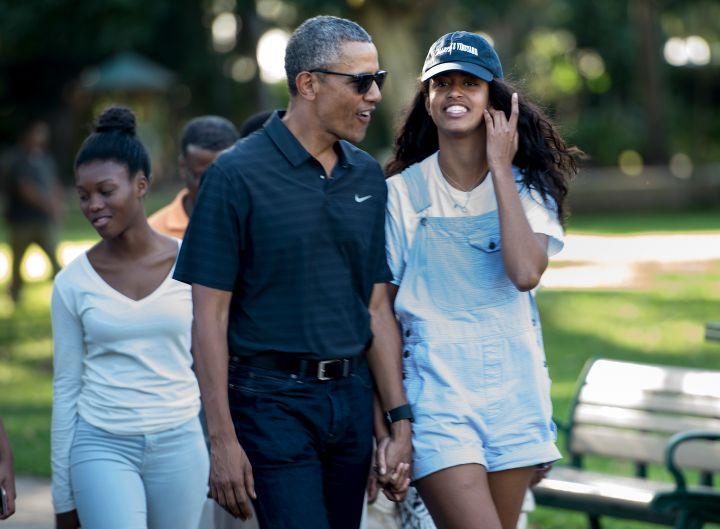 Barack Obama and his daughter Malia Obama