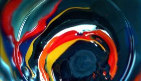 Close-Up Of Paint In Can