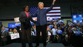 Hillary Clinton Attends Get Out The Vote Rally In Birmingham, Alabama