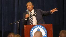 Ben Carson Campaigns At Citadel Republican Club In Charleston