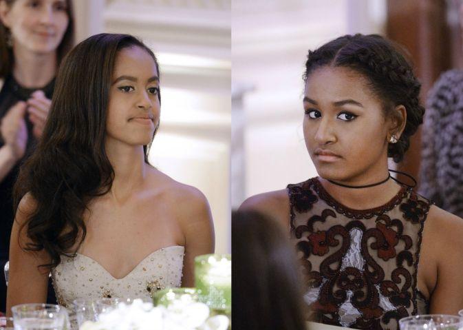 Sasha & Malia Obama