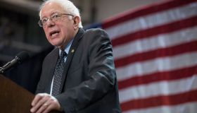Bernie Sanders Holds Campaign Rally At St. Louis Area High School