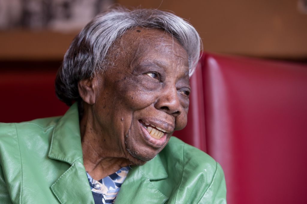 WASHINGTON, DC - FEBRUARY 22: 106 year-old Virginia McLaurin i