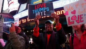 Americans Stand for Love & Against Trump's Hate Outside GMA
