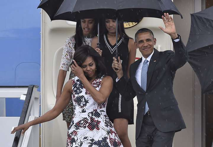 The First Family Arrives In Cuba