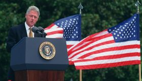 RECONCILIATION SIGNING:President Bill Clinton, makes his spe