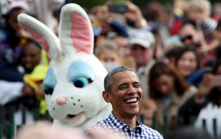 President Obama And The Easter Bunny.