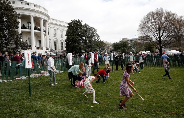 2016 White House Easter Egg Roll In Action.