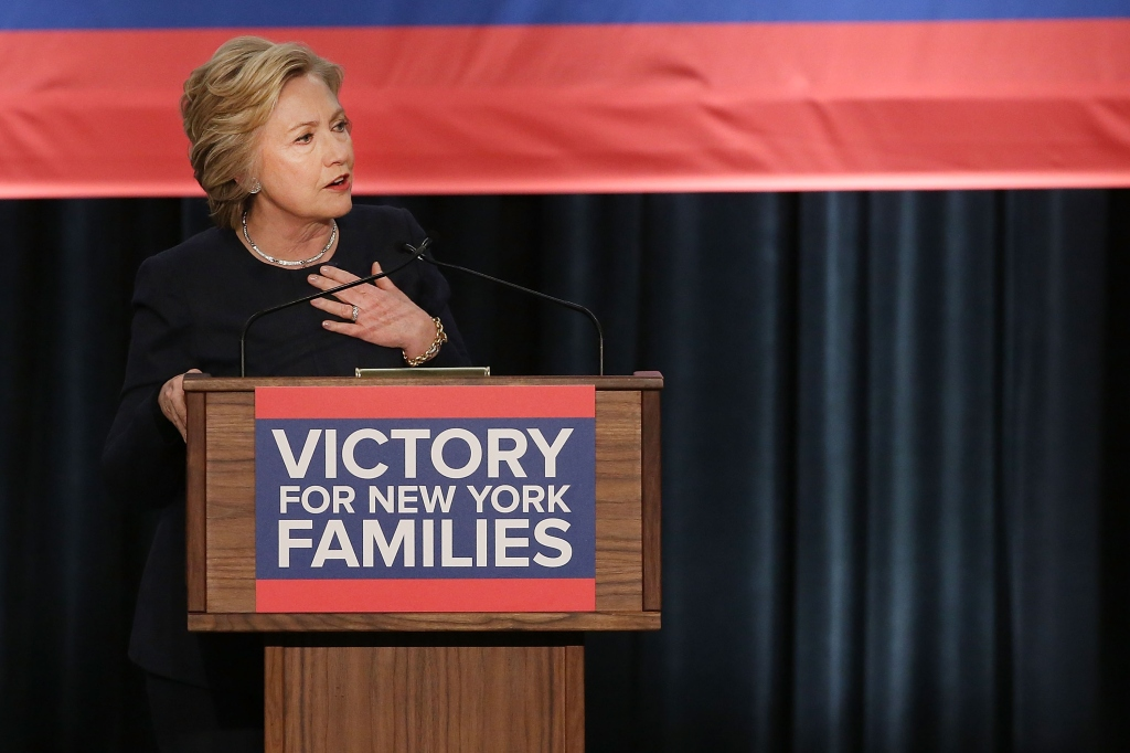 Hillary Clinton Joins NY Gov. Cuomo For $15 Minimum Wage Rally In NYC