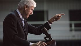 Bill Clinton Campaigns For Hillary Ahead Of South Carolina Primary