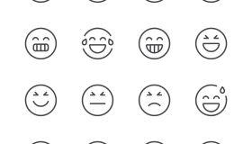 Emoji Icons set 2 | Black Line series