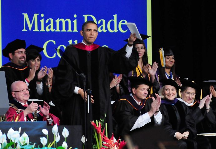 President Obama Speaks At Miami Dade College Commencement
