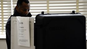A man casts his vote for midterm general