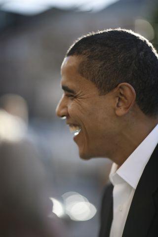 Barack Obama Tours New Hampshire In Wake Of Democratic Victory