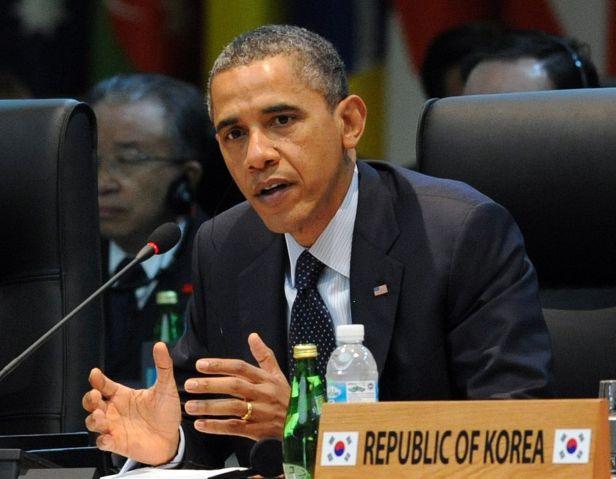 US President Barack Obama speaks at the