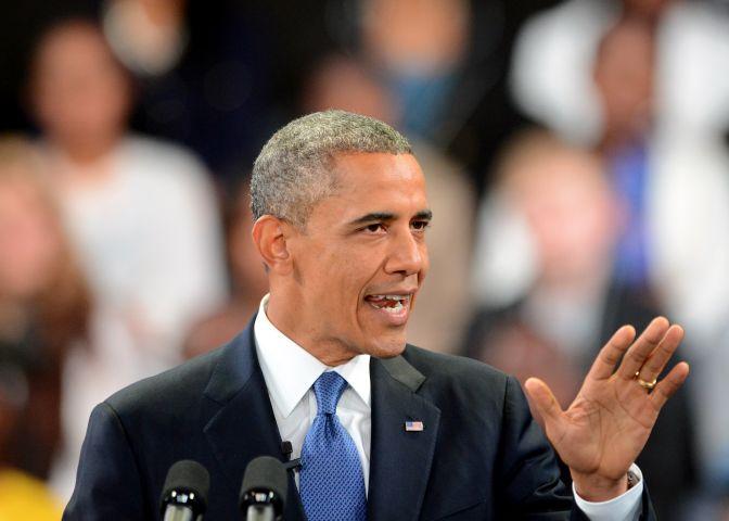 President Barack Obama in South Africa