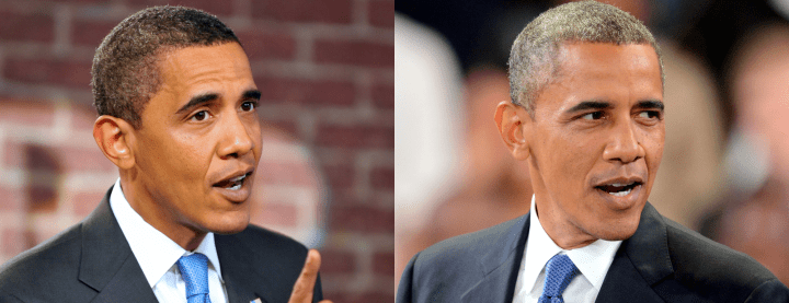 Then & Now: Barack Obama's Silver Fox Transformation
