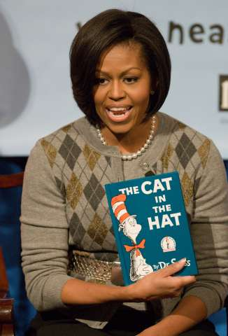 First lady Michelle Obama attends NEA's Read Across America...