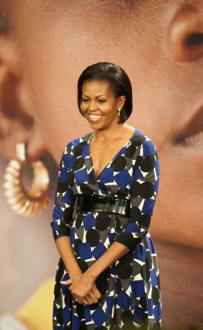 First Lady Michelle Obama speaks at the United States Agency...
