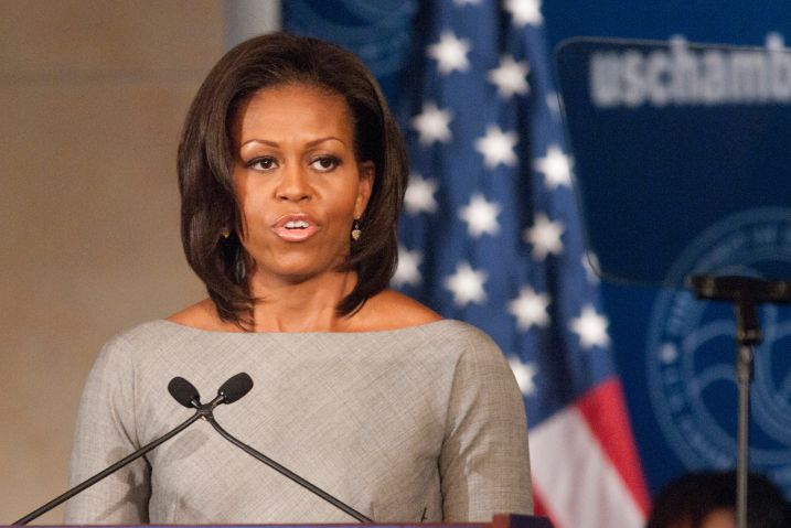First Lady Michelle Obama speaks at the U.S. Chamber of...
