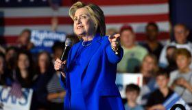 Hillary Clinton Campaigns In Louisville, Kentucky
