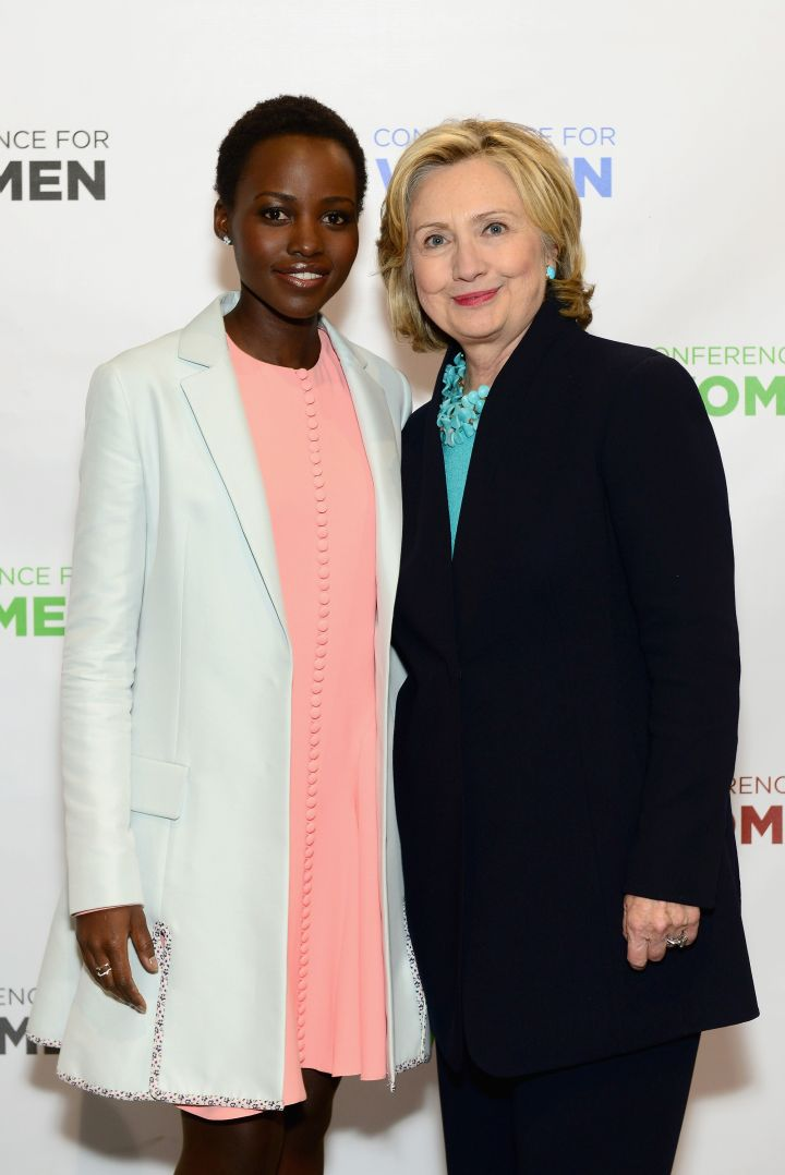 Hillary Clinton With Lupita Nyong'o