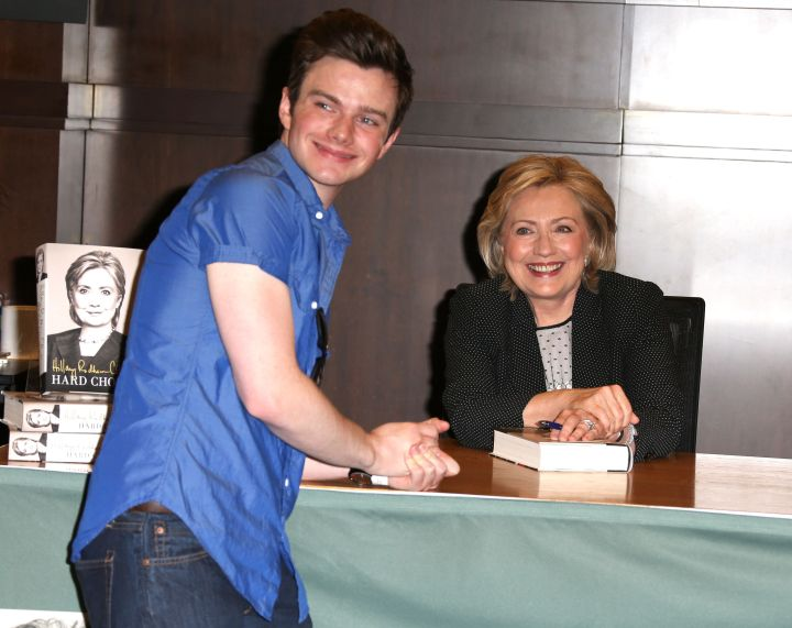 Hillary Clinton With Chris Colfer