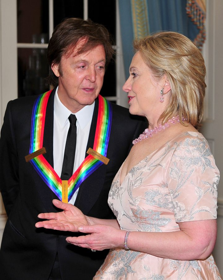 Hillary Clinton With Paul McCartney