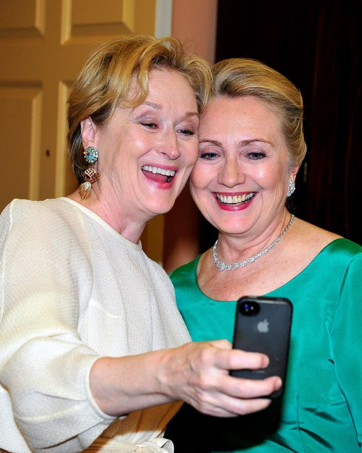 Hillary Clinton With Meryl Streep