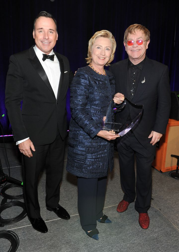 Hillary Clinton With Elton John