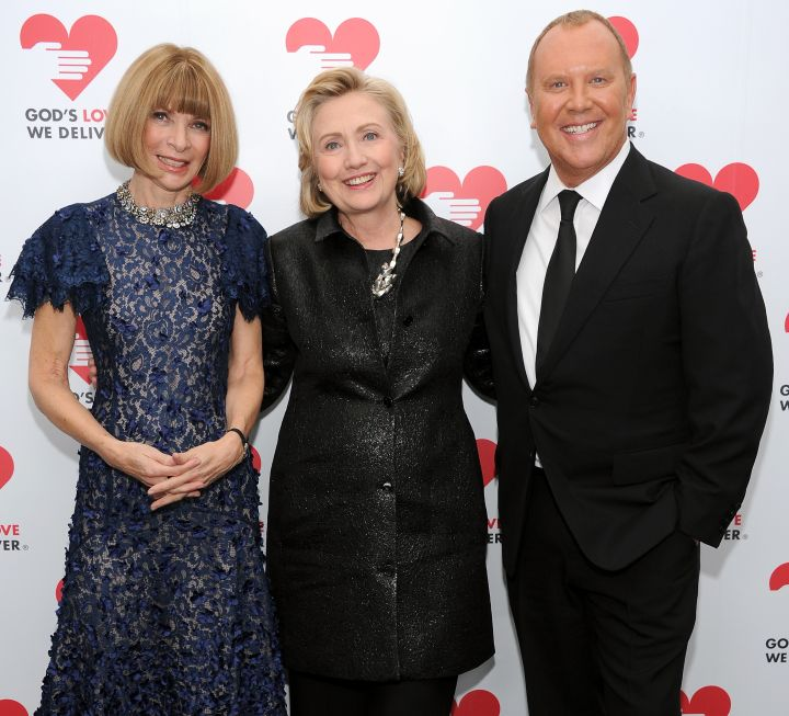 Hillary Clinton With Anna Wintour And Michael Kors