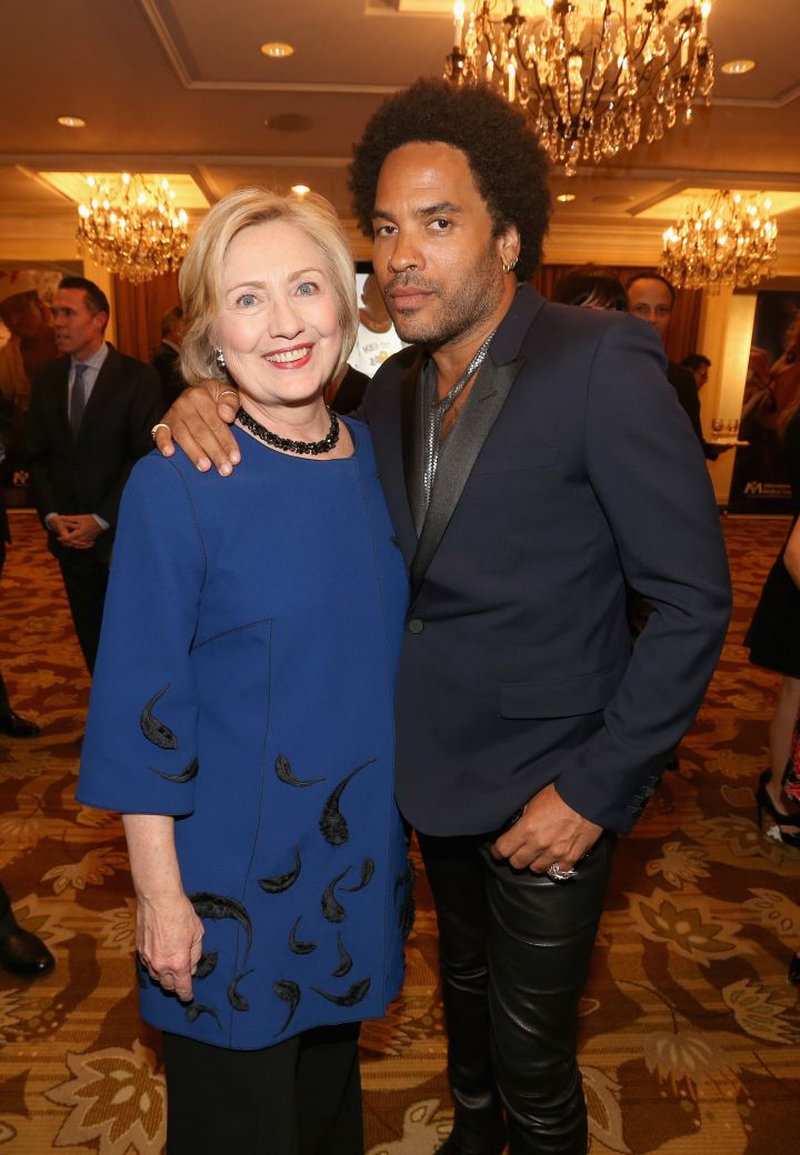 Hillary Clinton With Lenny Kravitz